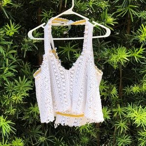 Free People Beach Crochet Crop top